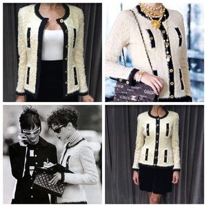 CHANEL Jackets & Coats - Iconic Chanel Vintage Fall 1994 Ecru Black Jacket